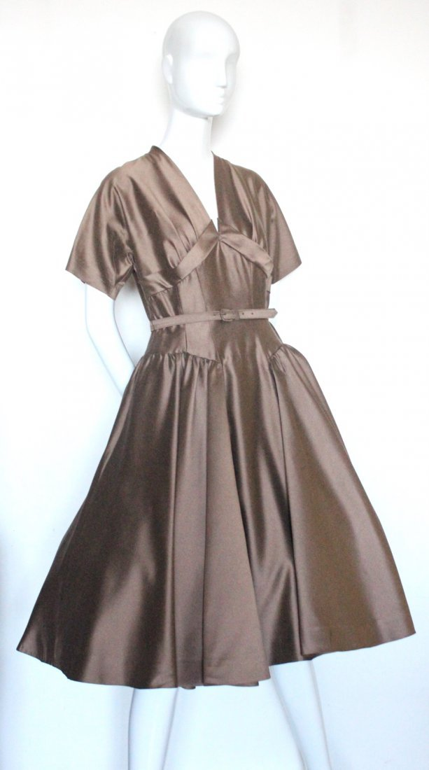 Bonwit Teller Chestnut Brown New Look Dress, c.1950's