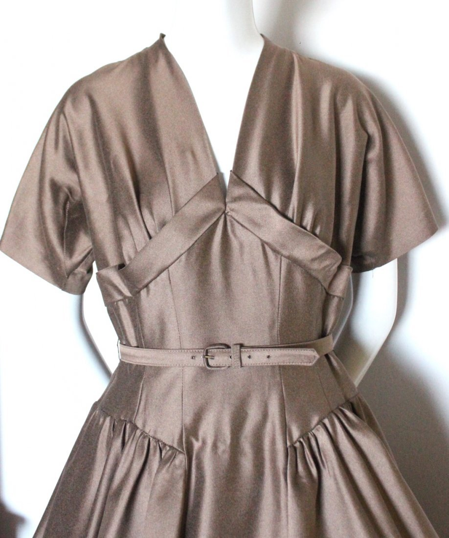 Bonwit Teller Chestnut Brown New Look Dress, c.1950's - 2