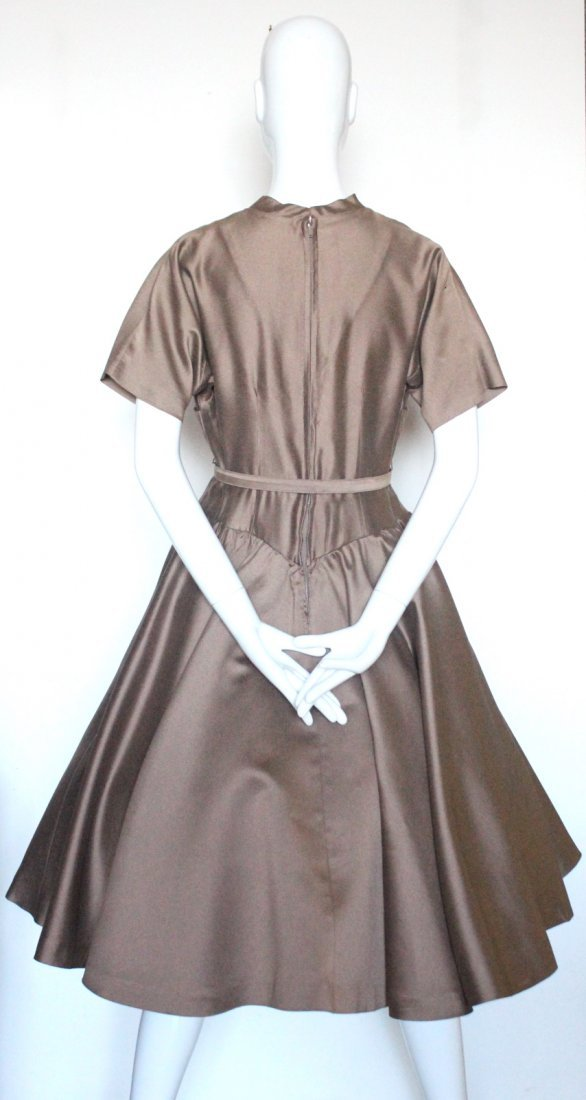 Bonwit Teller Chestnut Brown New Look Dress, c.1950's - 3
