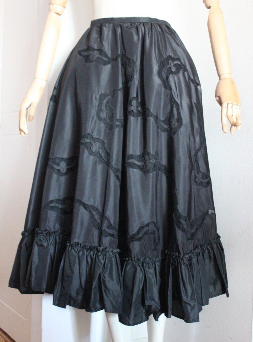 Rossino & Angela Silk Taffeta & Lace Skirt, c.1950's