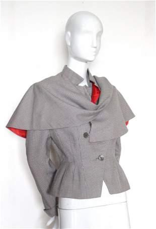 Balenciaga Adaptation Jacket with Cape, c. early 1950's