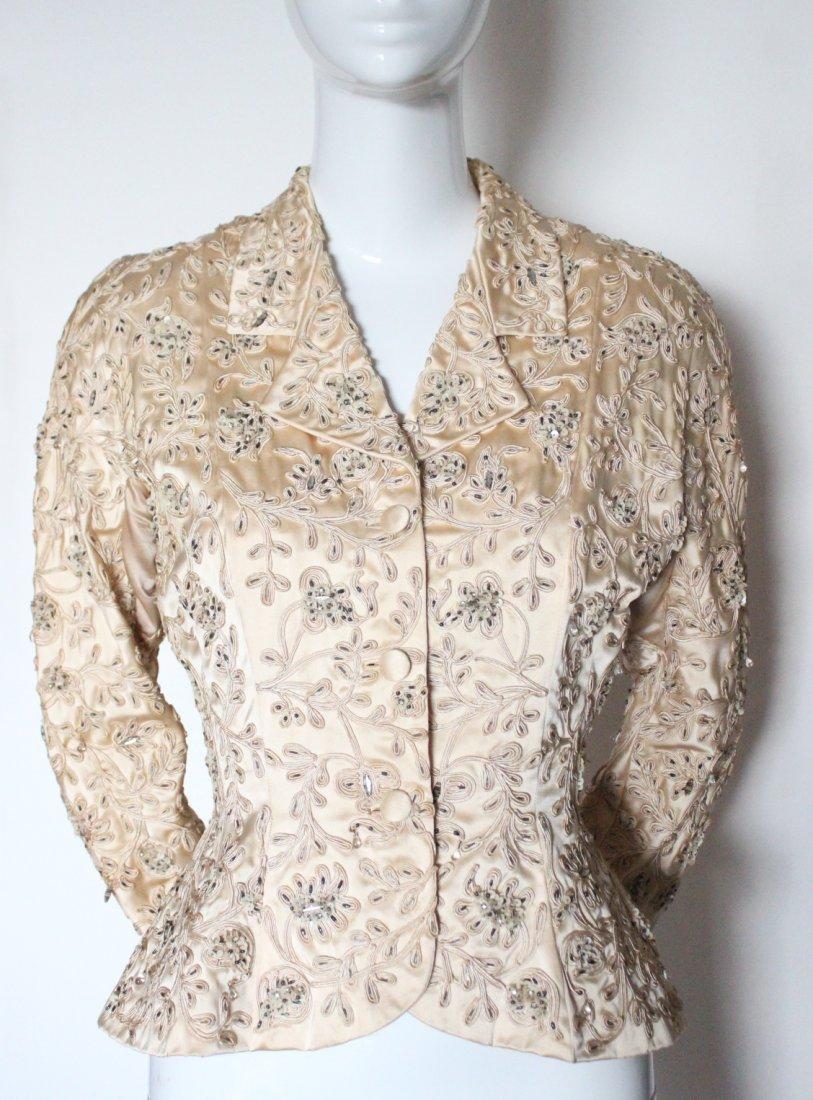 Balenciaga Haute Couture Embroidered Silk Jacket c.1950