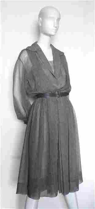 Christian Dior New York Silk Chiffon Dress, c.1953