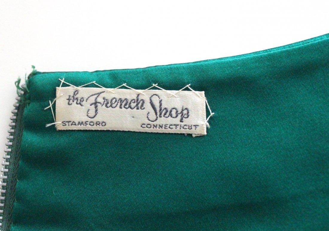 Christian Dior New York Green Silk Satin Dress, c.1956 - 4