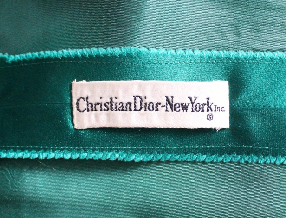 Christian Dior New York Green Silk Satin Dress, c.1956 - 5