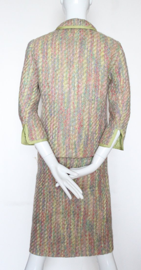 Chanel Haute Couture Green Lined Tweed Suit, F/W 1966 - 4