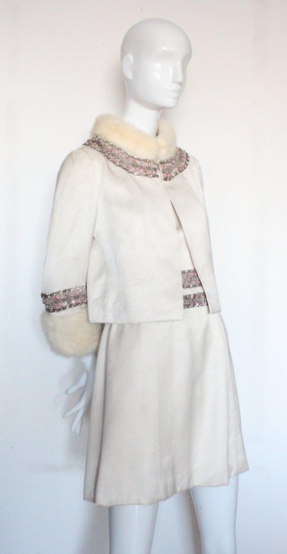 Pierre Balmain Haute Couture Beaded Silk Suit,