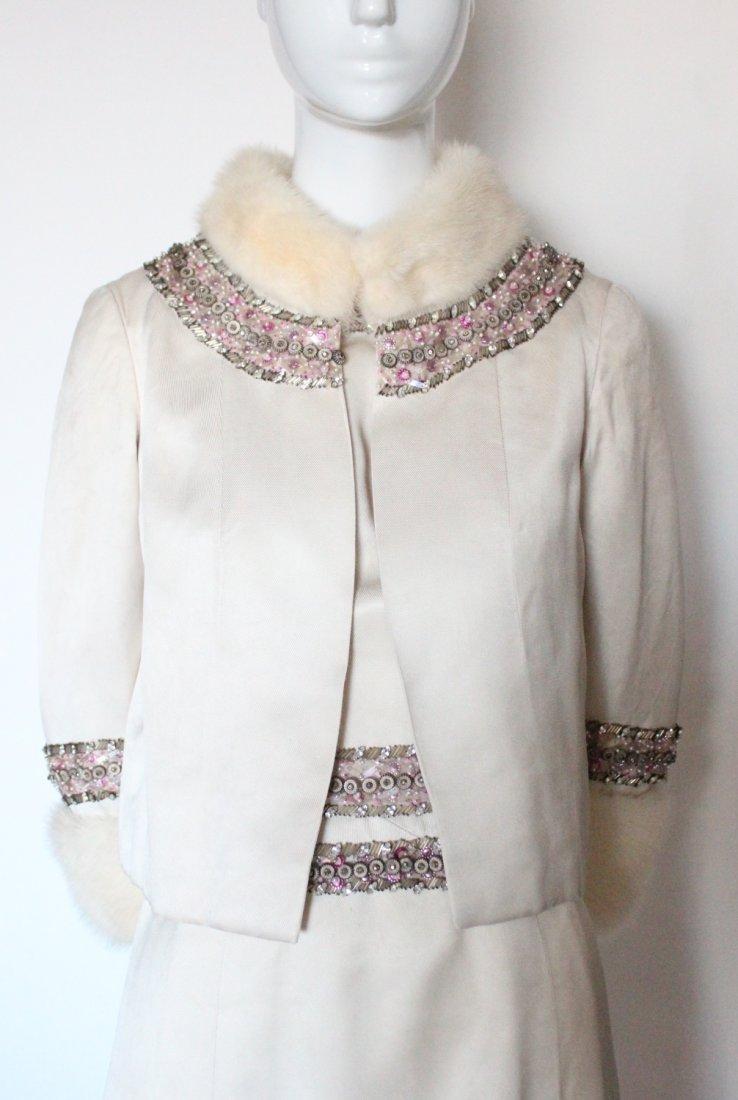 Pierre Balmain Haute Couture Beaded Silk Suit, - 2