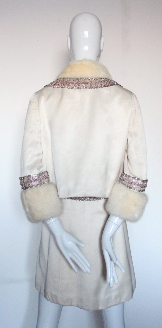 Pierre Balmain Haute Couture Beaded Silk Suit, - 3