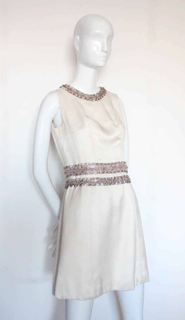 Pierre Balmain Haute Couture Beaded Silk Suit, - 4