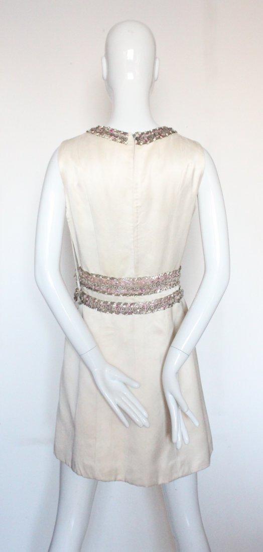 Pierre Balmain Haute Couture Beaded Silk Suit, - 5