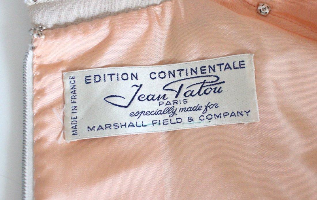 Jean Patou Demi Couture Beige Silk & Wool Dress, 1960's - 4