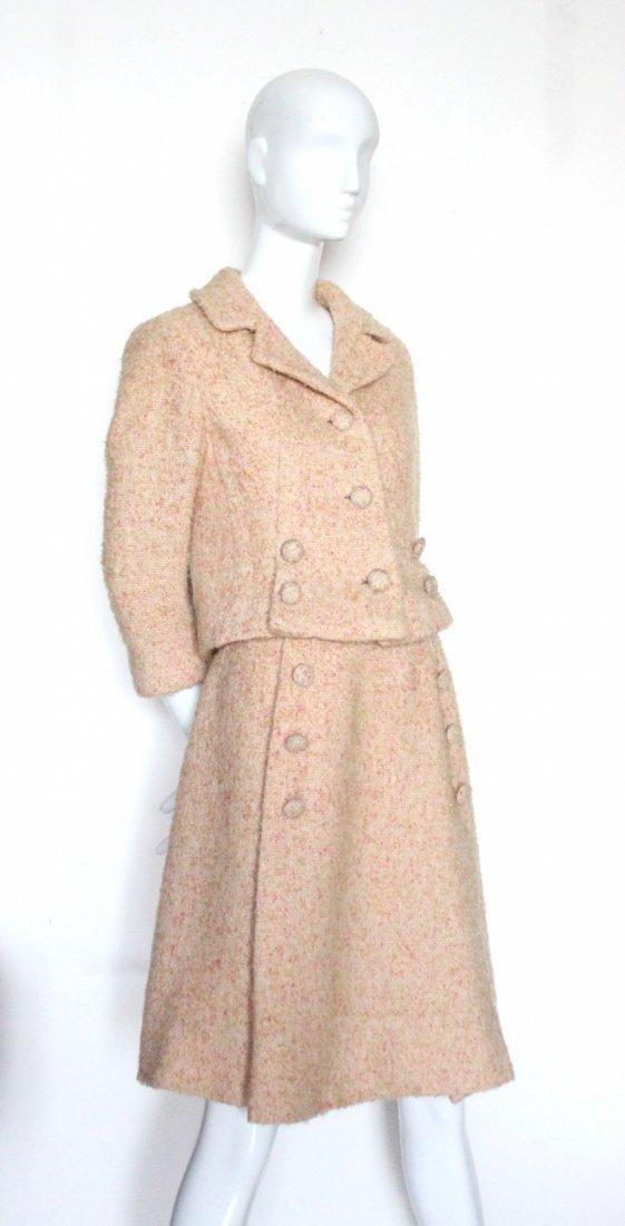 Louis Feraud Pink Wool Tweed Suit, c.1960's