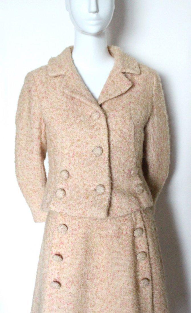 Louis Feraud Pink Wool Tweed Suit, c.1960's - 2
