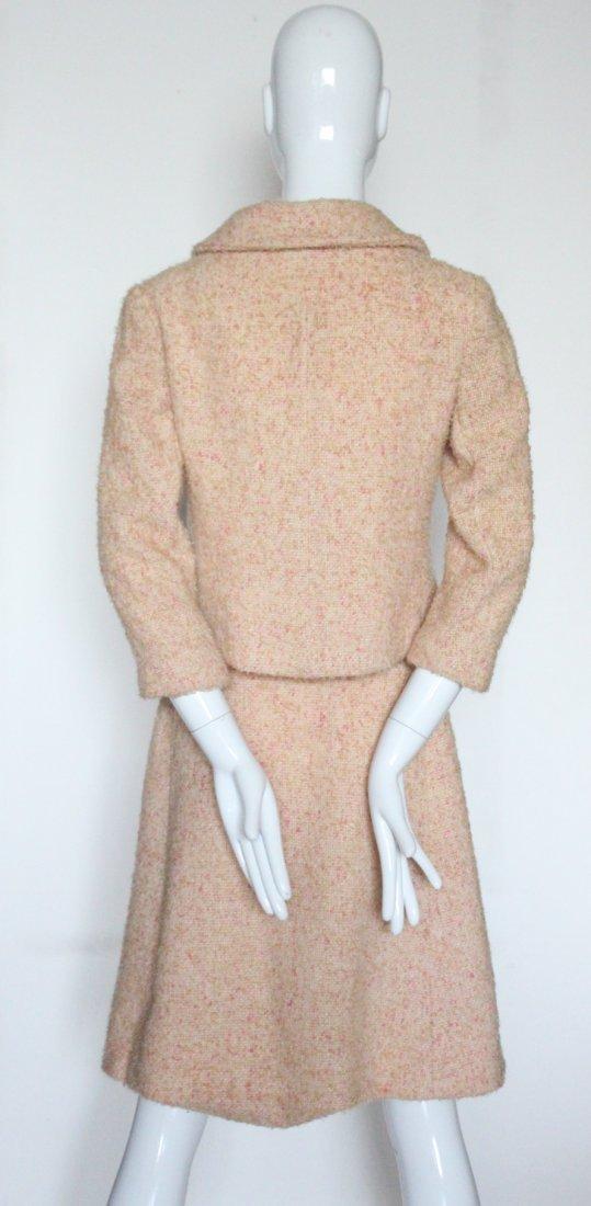 Louis Feraud Pink Wool Tweed Suit, c.1960's - 3
