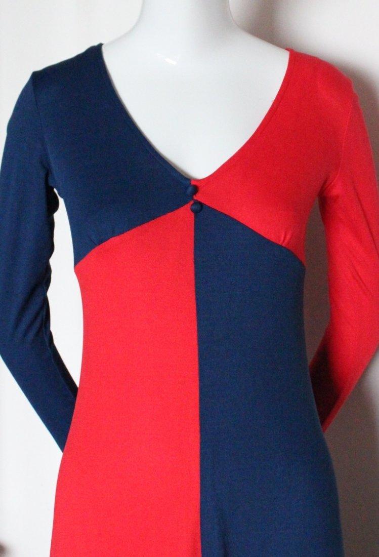 Mixed Media Ban-Lon Fashion Mod Dress, c.1960's - 2