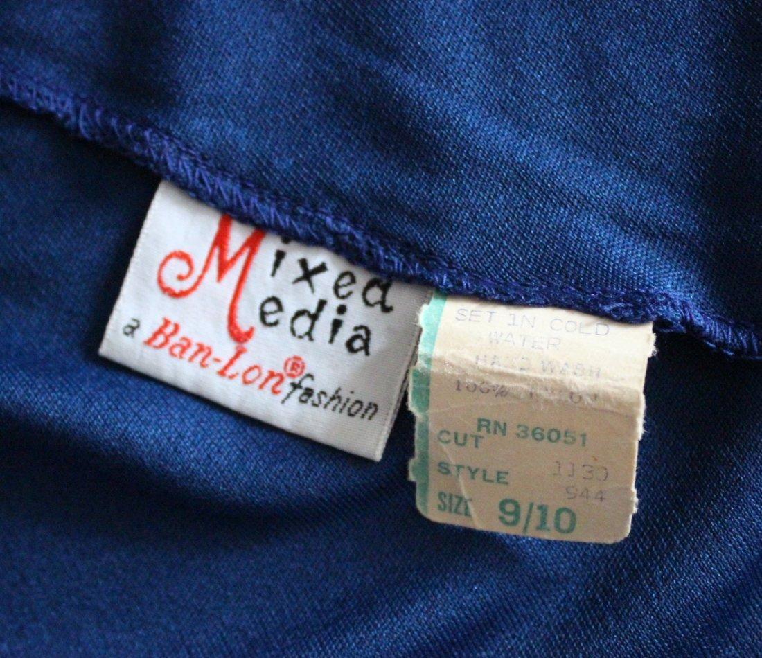 Mixed Media Ban-Lon Fashion Mod Dress, c.1960's - 4