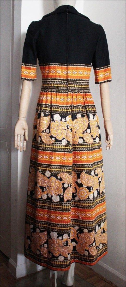 Oscar de la Renta Parsley Print Maxi Dress, c.late - 2