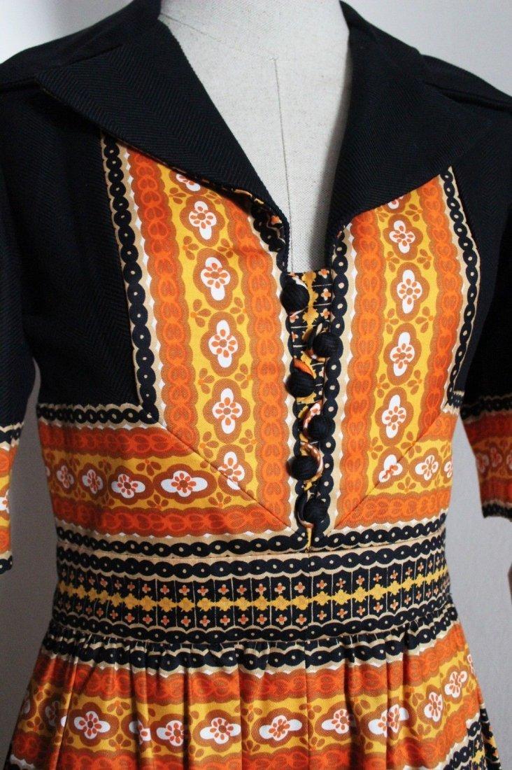 Oscar de la Renta Parsley Print Maxi Dress, c.late - 3