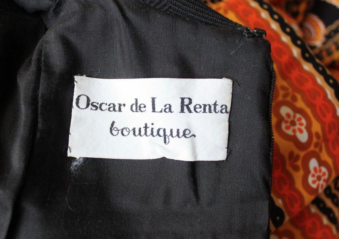 Oscar de la Renta Parsley Print Maxi Dress, c.late - 4