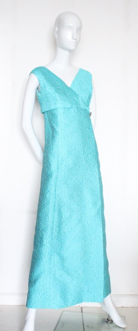 Carven Demi Couture Brocade Evening Dress