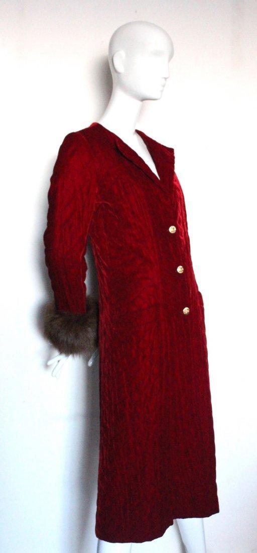 Chanel Couture by Chez Ninon Velvet Coat, ca.1973