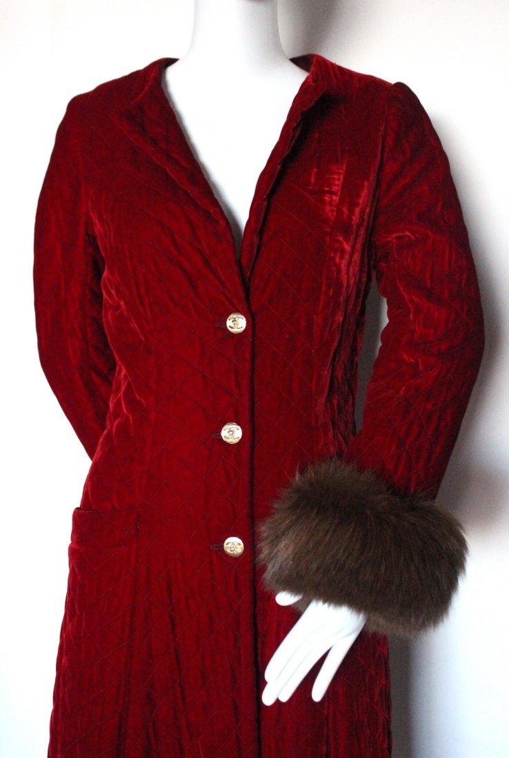 Chanel Couture by Chez Ninon Velvet Coat, ca.1973 - 2