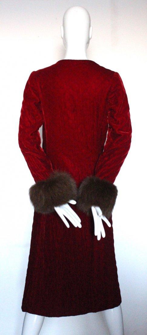 Chanel Couture by Chez Ninon Velvet Coat, ca.1973 - 3