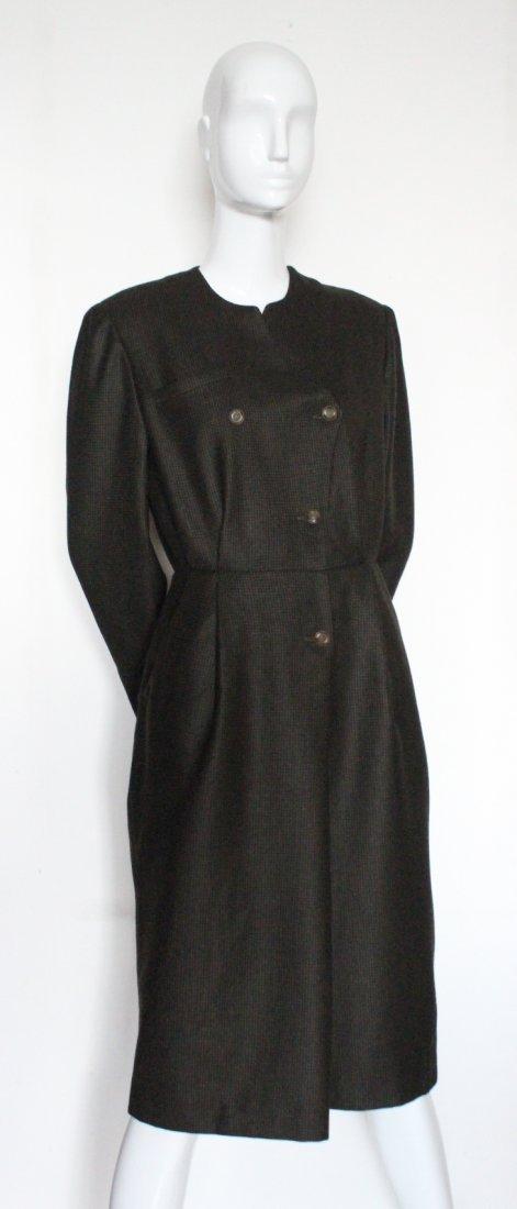 Hanae Mori Paris Brown Wool Dress, c. late 1970's