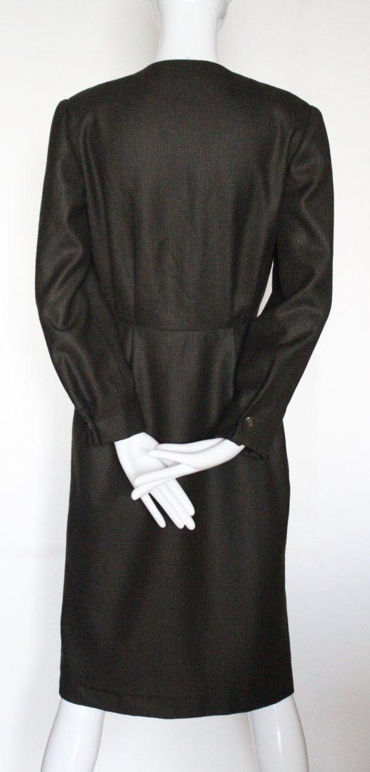 Hanae Mori Paris Brown Wool Dress, c. late 1970's - 2
