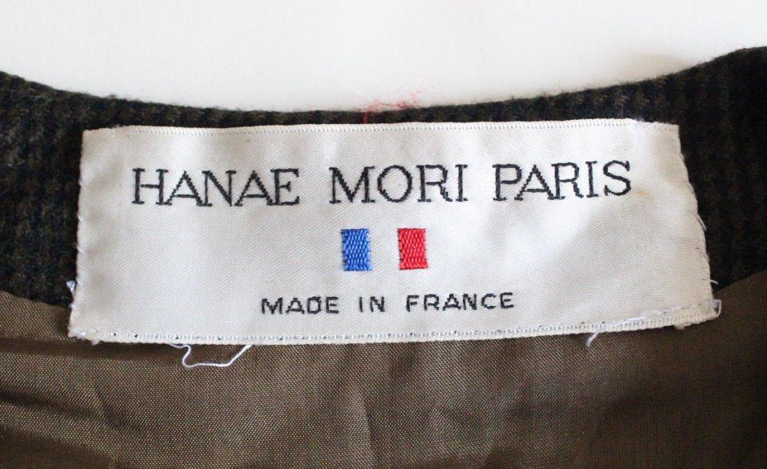 Hanae Mori Paris Brown Wool Dress, c. late 1970's - 3