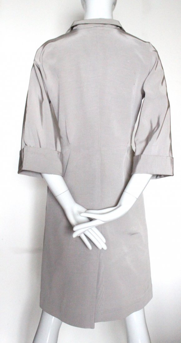 Stavropoulos Couture Silk Faille Coat Dress, c.1970's - 3