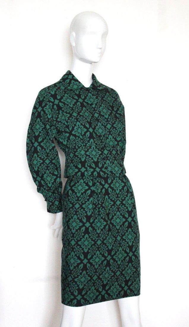 Guy Laroche Green & Black Wool Suit, c.1970's