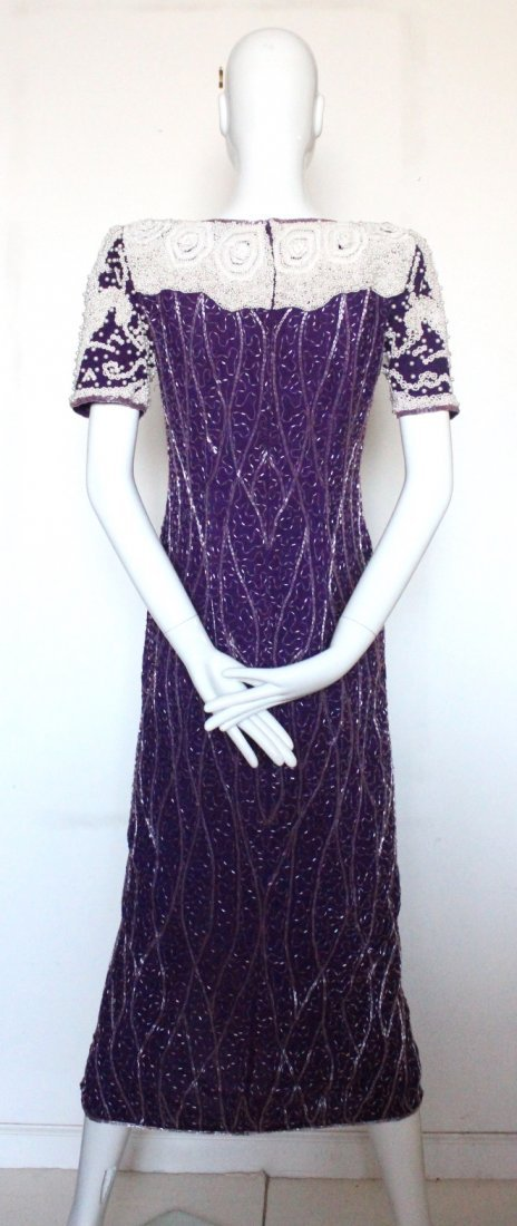 Neiman Marcus Heavy Beaded Evening Dress, c.1980's - 2