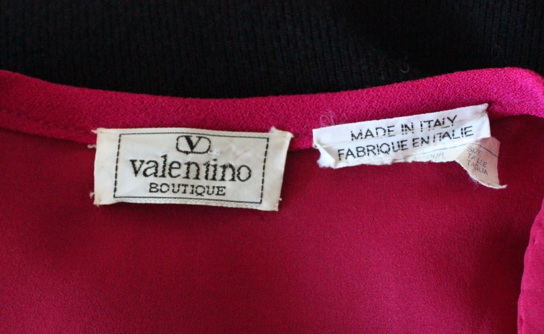 Valentino Boutique Pink & Black Wool Suit, c.1980's - 4