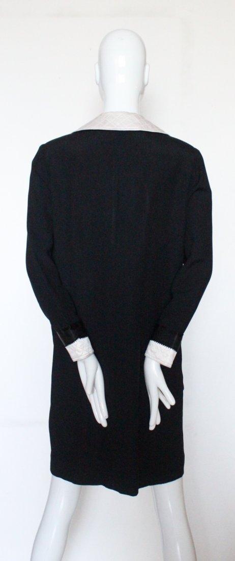 Adolfo Black Silk Crepe Dress, 1980's. - 3