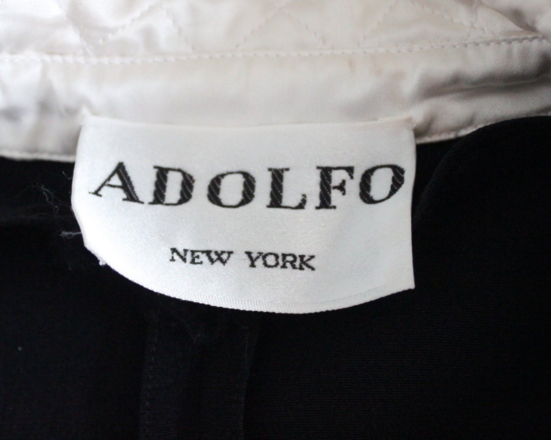 Adolfo Black Silk Crepe Dress, 1980's. - 4
