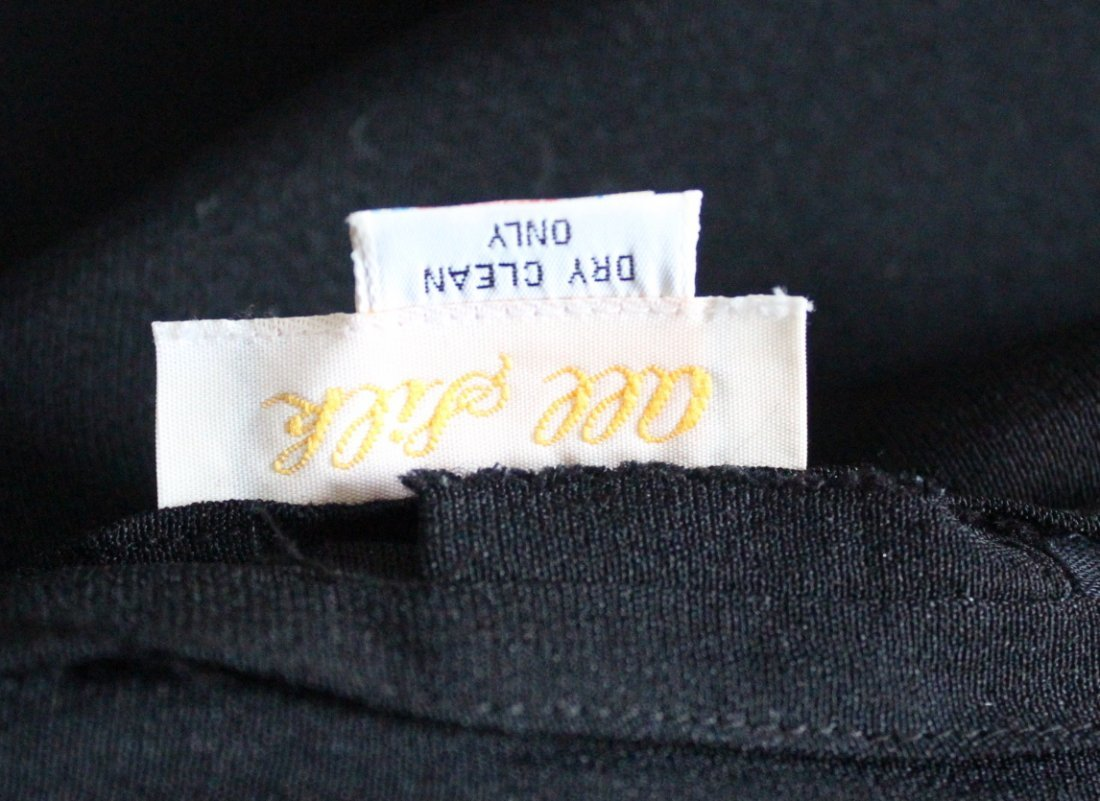 Adolfo Black Silk Crepe Dress, 1980's. - 5