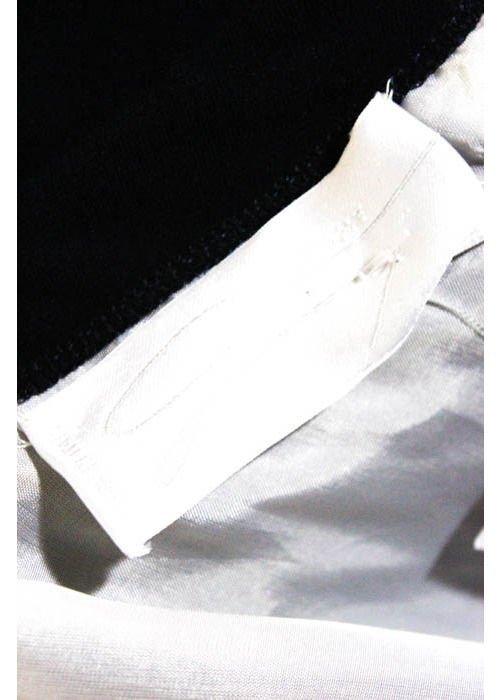Genny Dark Navy & White Color Block Dress, c.1980's - 3