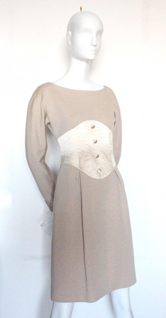 Geoffrey Beene Couture Wool & Silk Dress, c.1990's