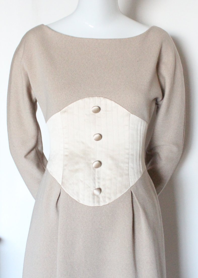 Geoffrey Beene Couture Wool & Silk Dress, c.1990's - 2