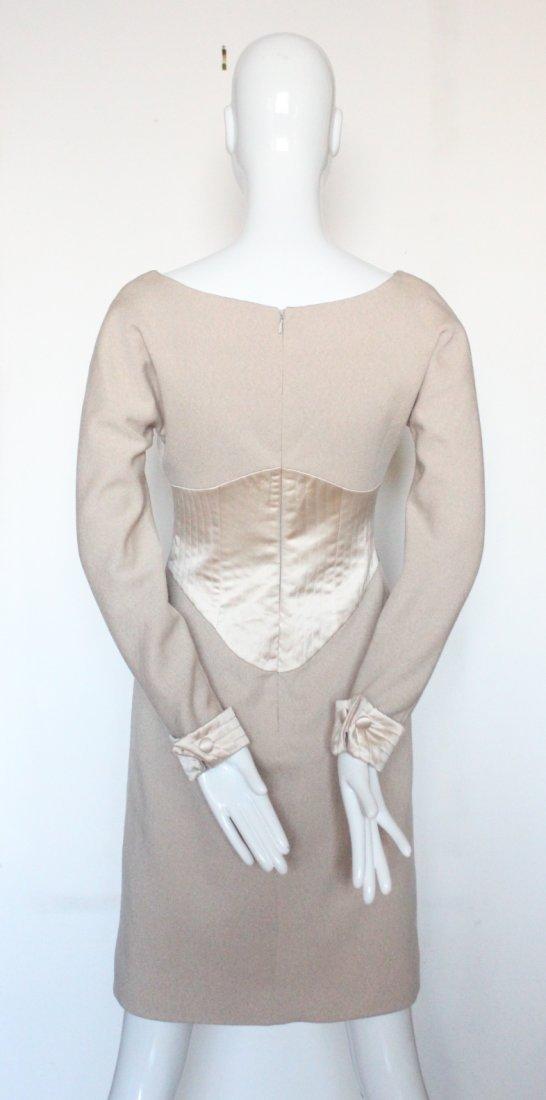 Geoffrey Beene Couture Wool & Silk Dress, c.1990's - 3