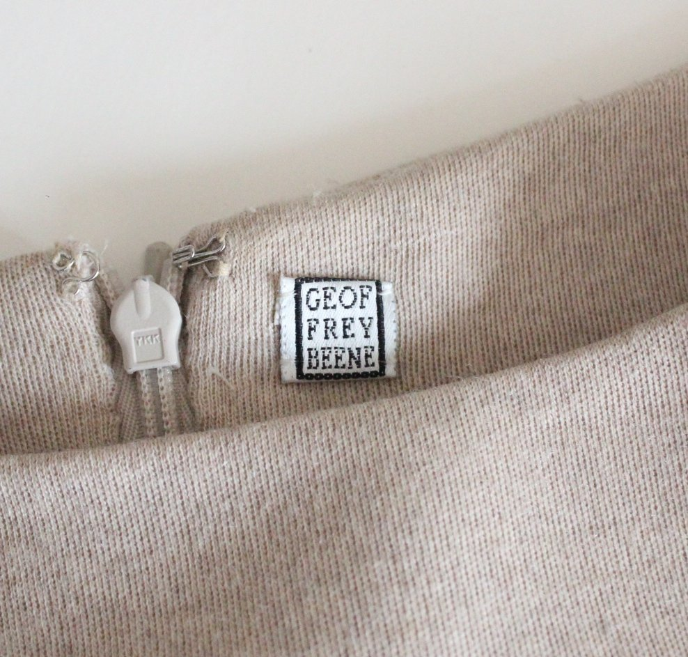 Geoffrey Beene Couture Wool & Silk Dress, c.1990's - 4