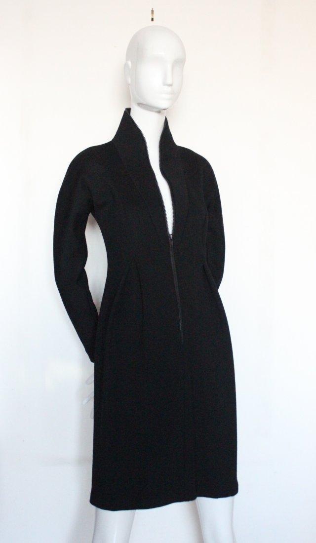 Geoffrey Beene Scuba Style Wool Dress, c.1990's