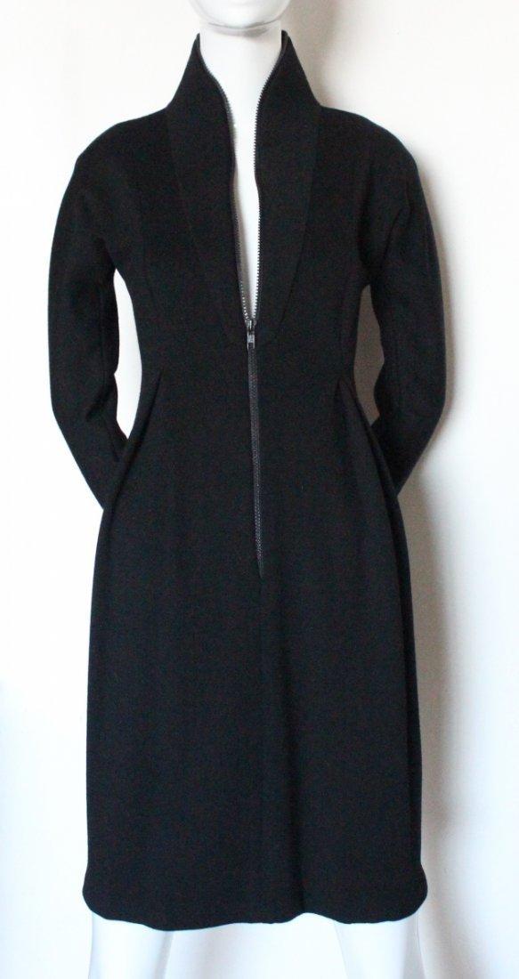 Geoffrey Beene Scuba Style Wool Dress, c.1990's - 2