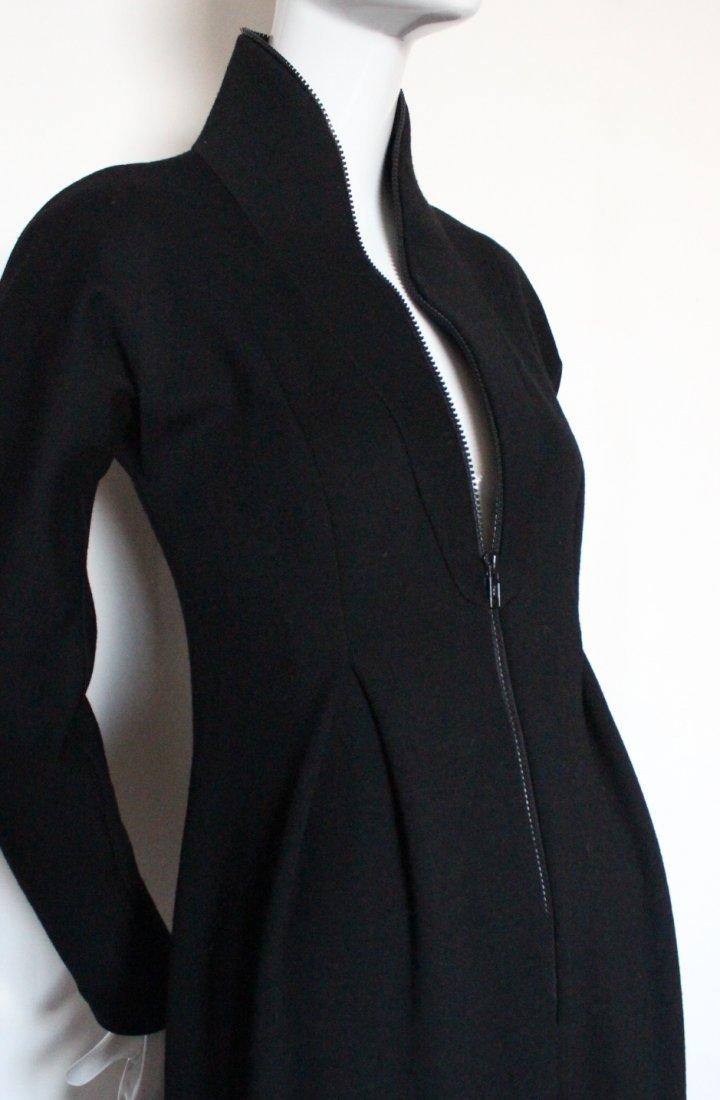 Geoffrey Beene Scuba Style Wool Dress, c.1990's - 3