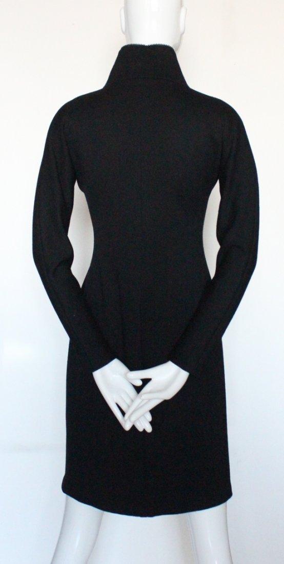 Geoffrey Beene Scuba Style Wool Dress, c.1990's - 4