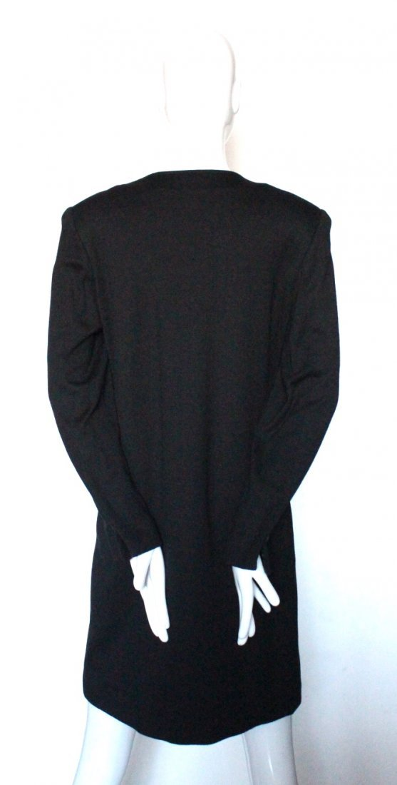 Pauline Trigere Couture Wool Jersey Dress, c.1980's - 2