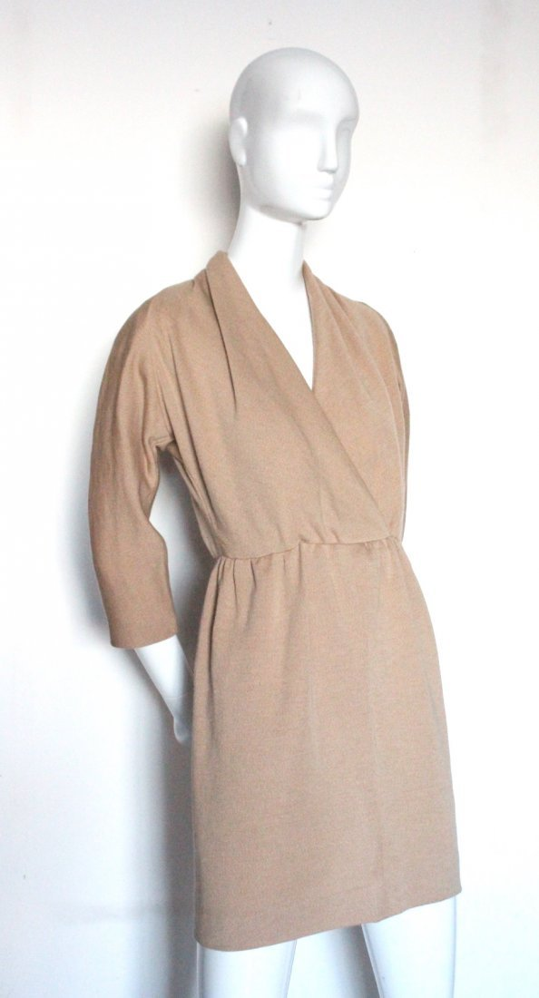 Givenchy Couture Camel Wool Knit Dress, c.1990's.