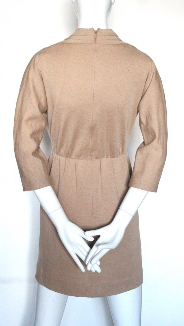 Givenchy Couture Camel Wool Knit Dress, c.1990's. - 3